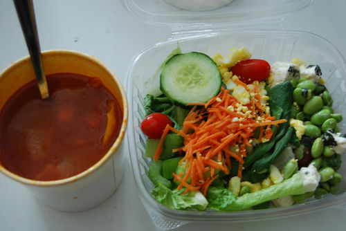 Cabbage-soup-and-salad