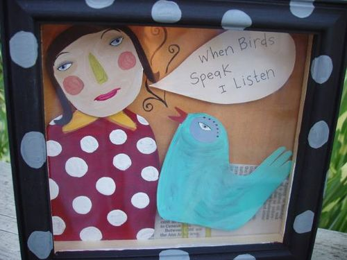 Birds speak framed!#1