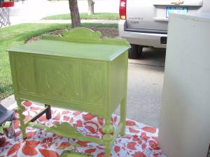 Painting_green_sideboard